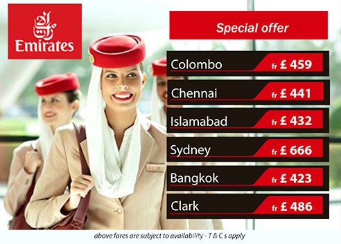 Cheap air flights to Sri Lanka from London - Emirates Airways