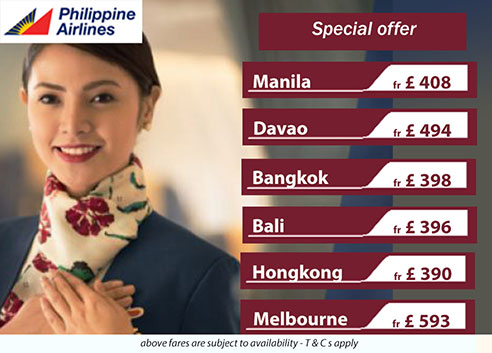 Cheap air flights to Philippines from London - Philippines